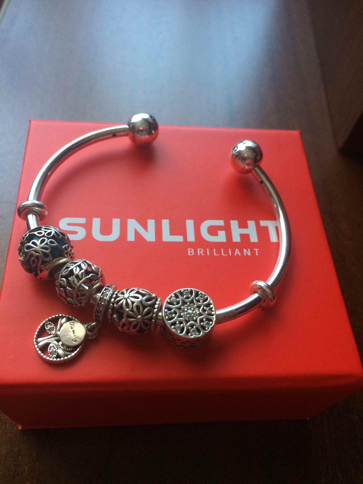 Серебрянный браслет доя шармов SL