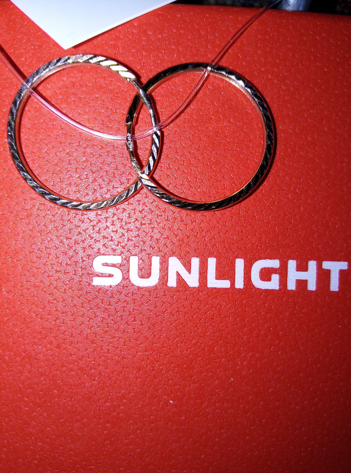 Серьги - кольца 1,5 см в диаметре