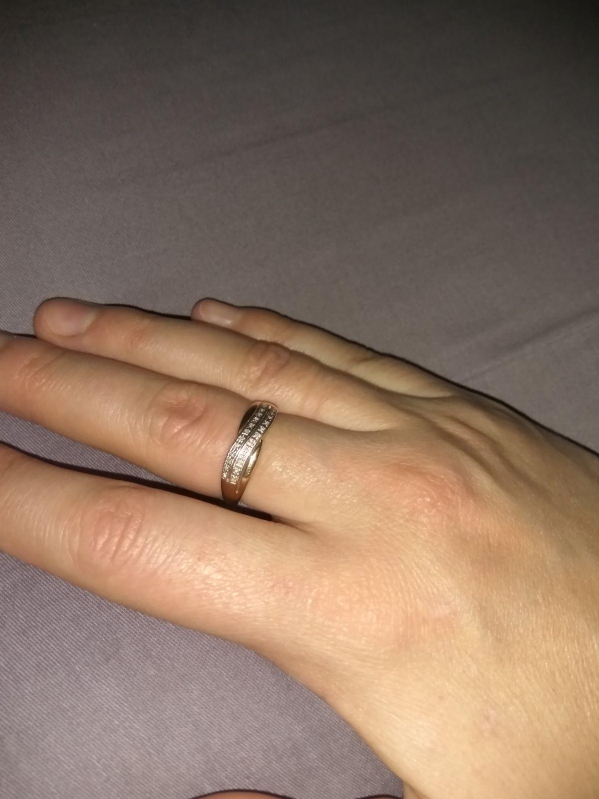 Кольцо с кучей бриллиантов