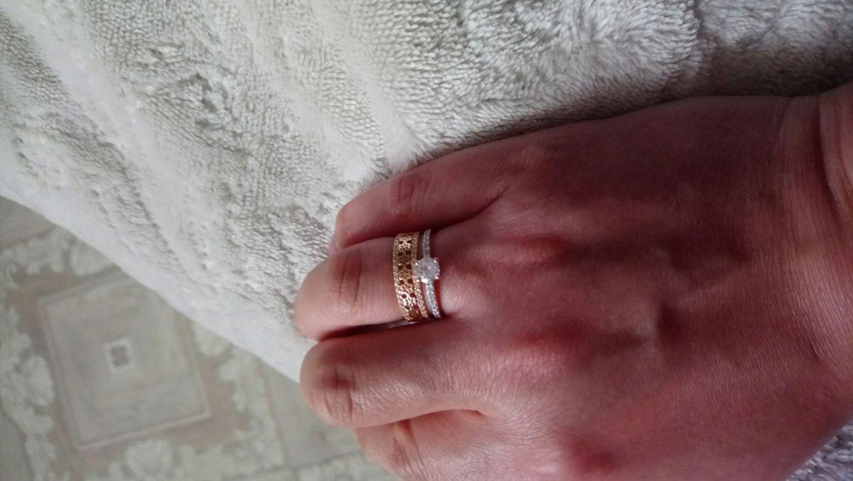 Золотое двойное кольцо