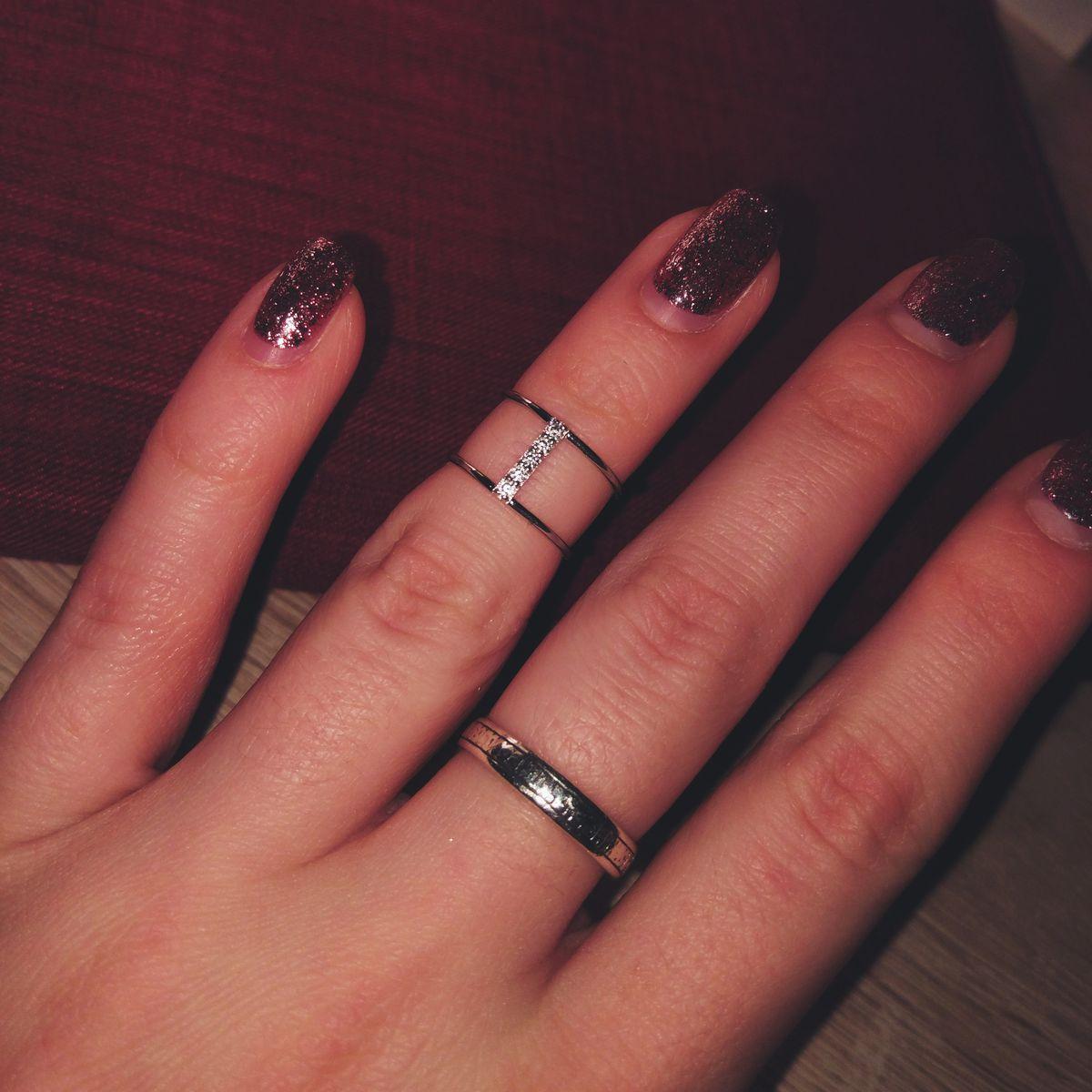 Красивое колечко на фалангу пальца 👑