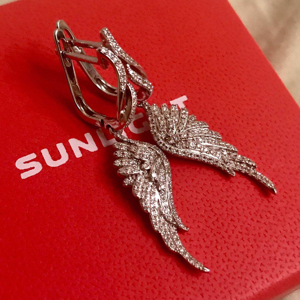 Крылья с бриллиантами