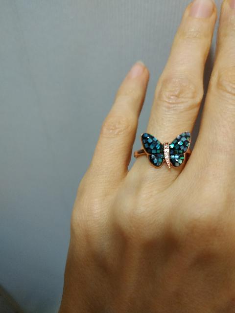 Кольцо с бабочкой